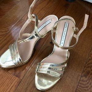 Gold straps Zara heels